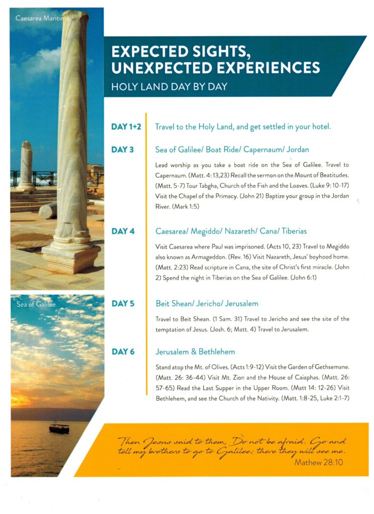 Holy Land Tour 2020 P2 001 1