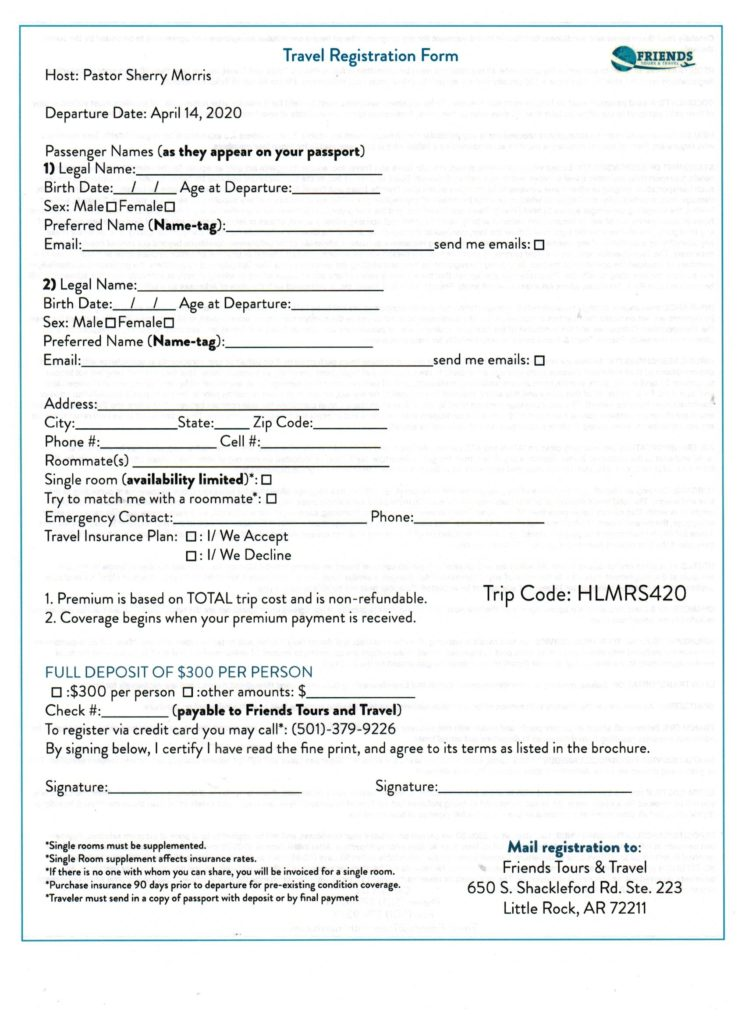 Holy Land Tour 2020 Registration 001 1